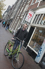 Ride a bicycle in the Netherlands