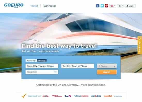 Go Euro transport comparison site