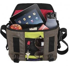 iPad fits easily in backpack