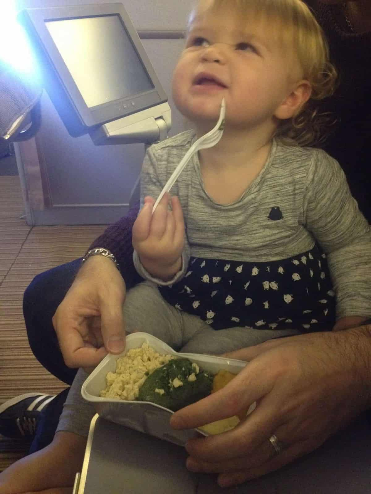 Eating at Bassinet seats with infant