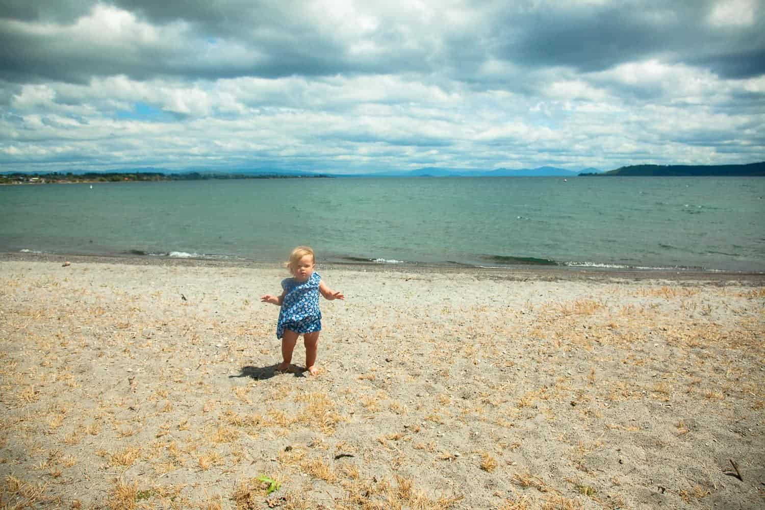 Lake Taupo beach