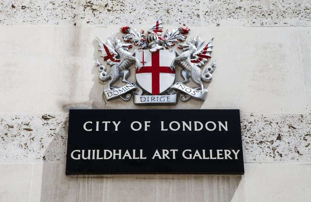 Guildhall Art Gallery in the City of London