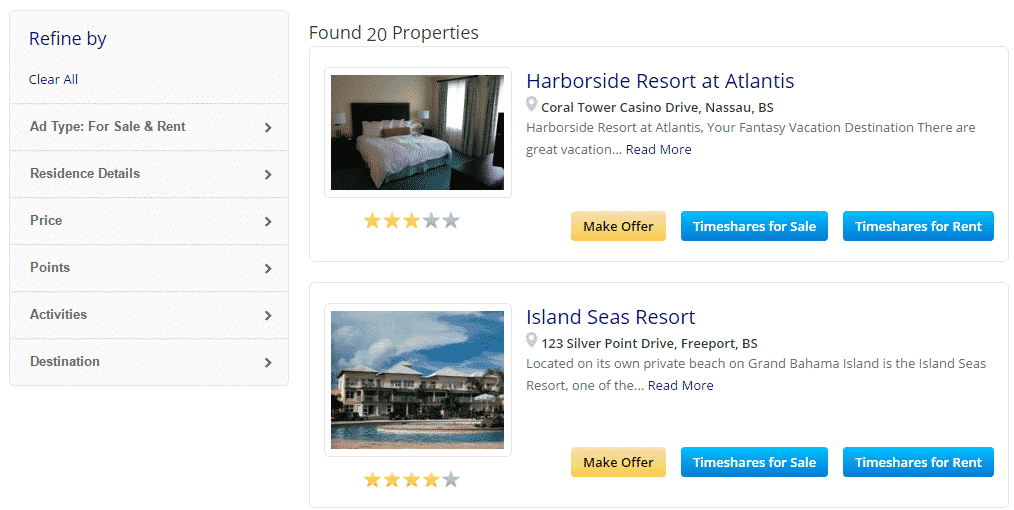 TimeShare Refine by Bahamas